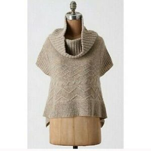 Anthropologie Moth Sweet Cable Swing Cowl Neck